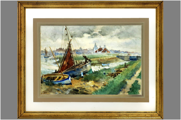 Landscape with boats-1913