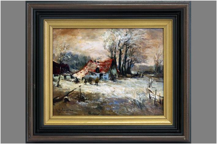Delvigne A - Winter landscape-