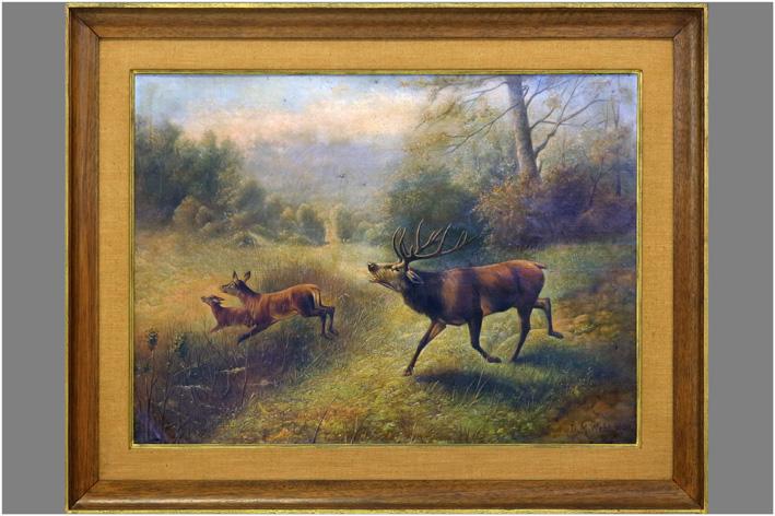 Webb Z.M. - Deer in landscape-1920