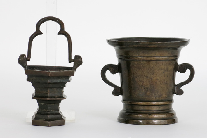 Two antique items in bronze-