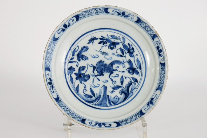 18th Cent. plate in earthenware from Delft-