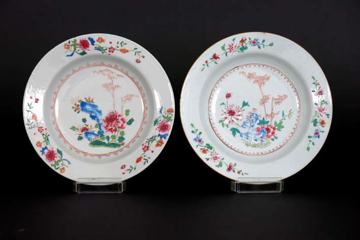 Two 18th Cent. Chinese plates in porcelain-