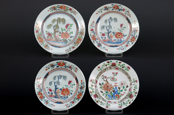 Set of four Chinese 18th Cent. plates in porcelain-