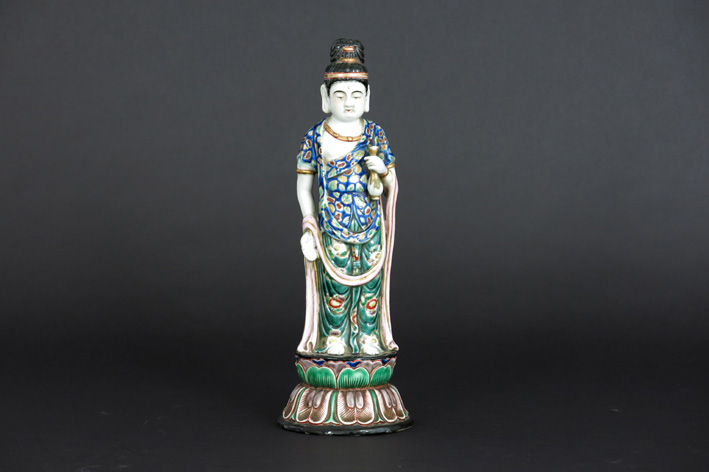 Antique Japanese sculpture in porcelain-