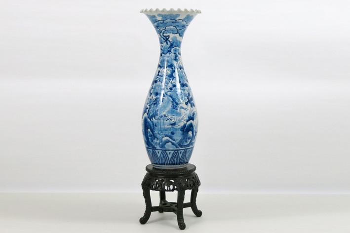 Antique Japanese porcelain vase-