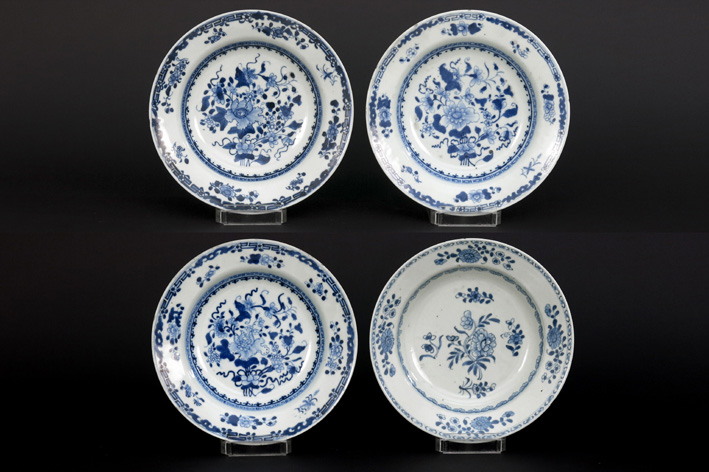 FourChinese 18th Cent. plates in porcelain-