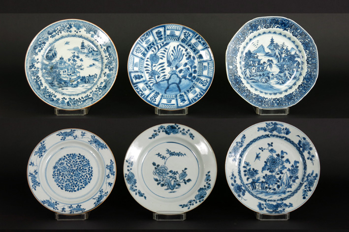 Six 18th Cent. Chinese plates in porselein-