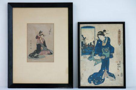Two Japanese woodcut prints-