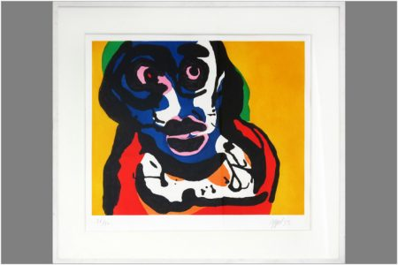 Karel Appel-Composition with face-1975