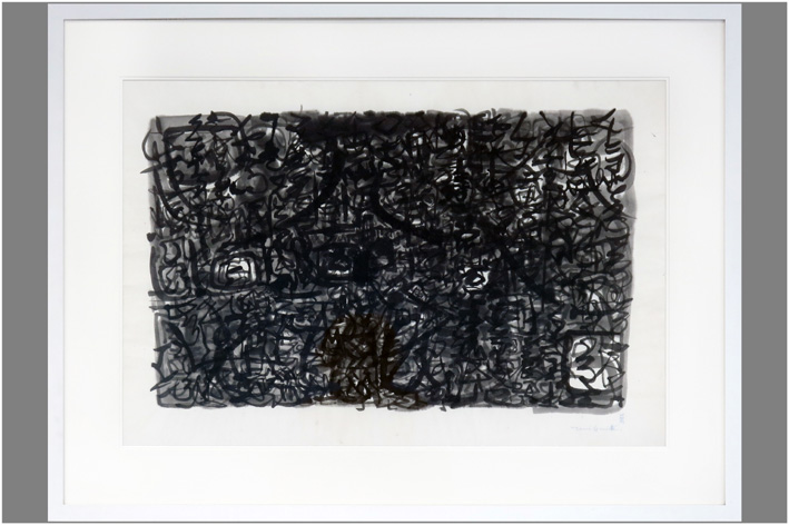 Guiette Ren - Abstract composition in black and white-1959