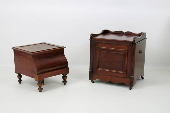 Victorian 'commodes' in mahogany-