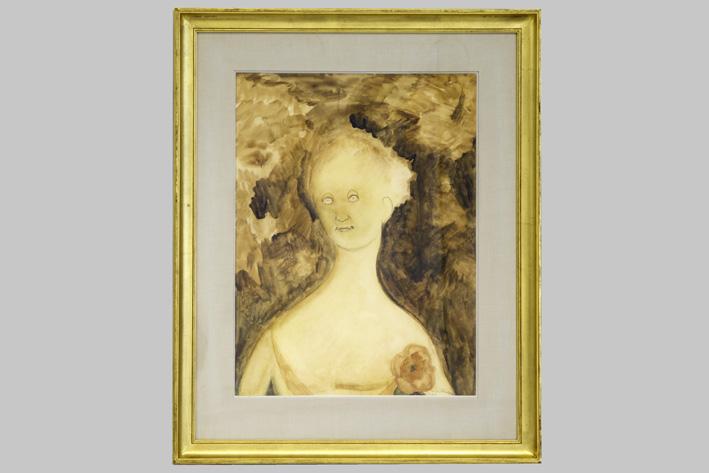 Leon Spilliaert-Jeune Fille au corsage fleuri-1920