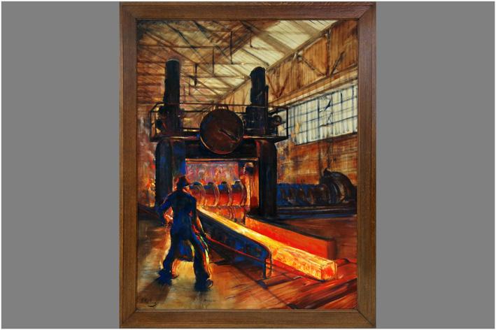 Paulus P. - Workmen on a blast furnace-