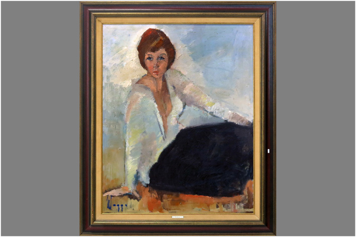 Wegge Rik - Sitting lady-