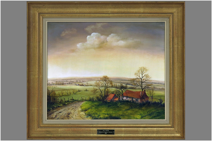 Cosyns Gies - Landscape with farm-