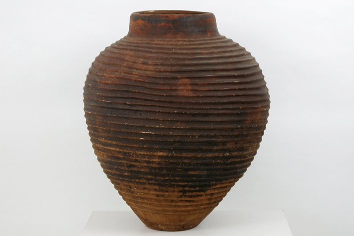 Quite big, old African urn in earthenware-