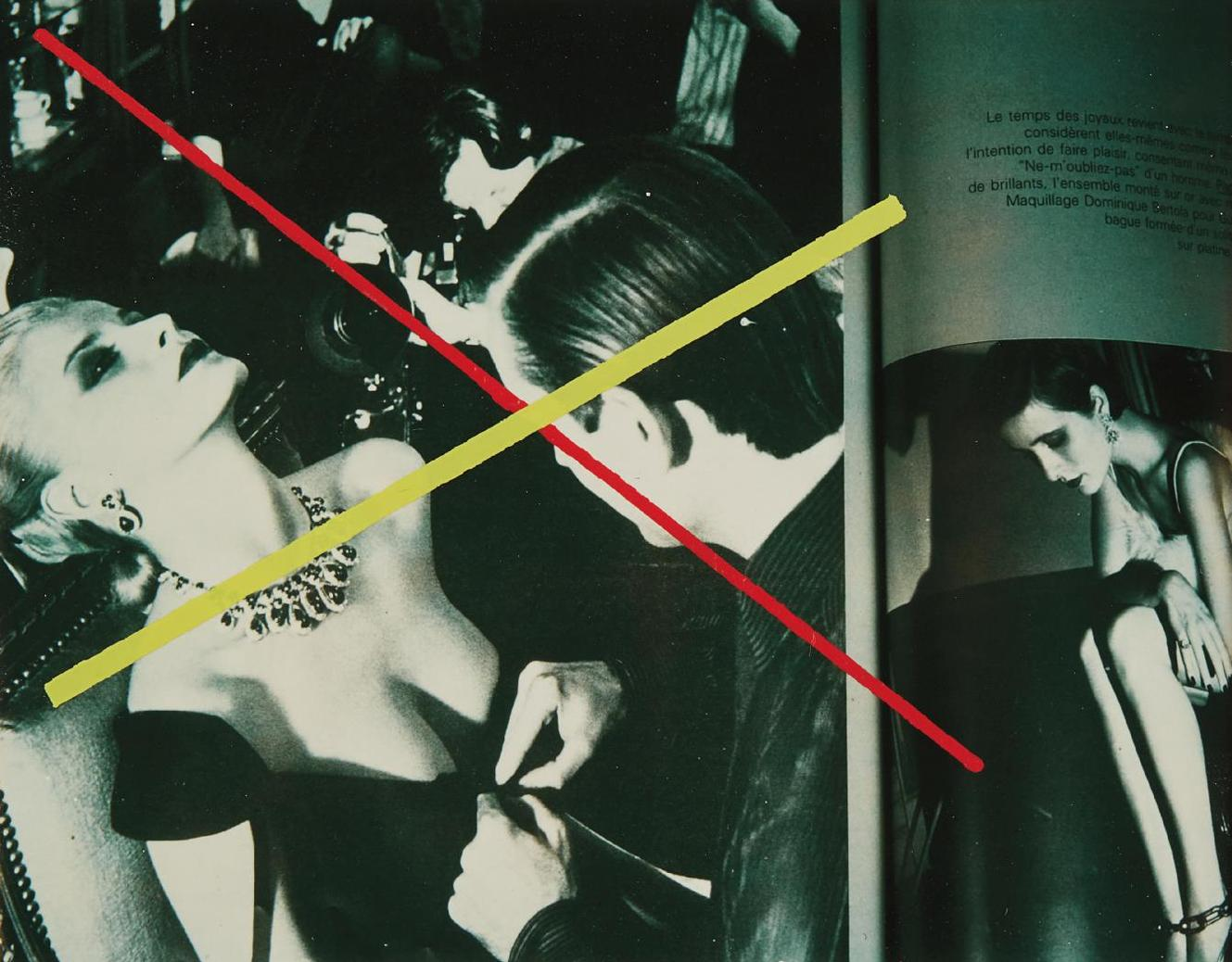 Richard Pettibone-Helmut Newton, Le Temps Des Joyaux, French Vogue, 1979-1980