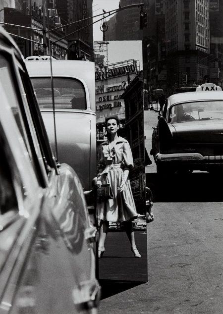 William Klein-Sandra + Mirror, Times Square, New York (Vogue)-1962