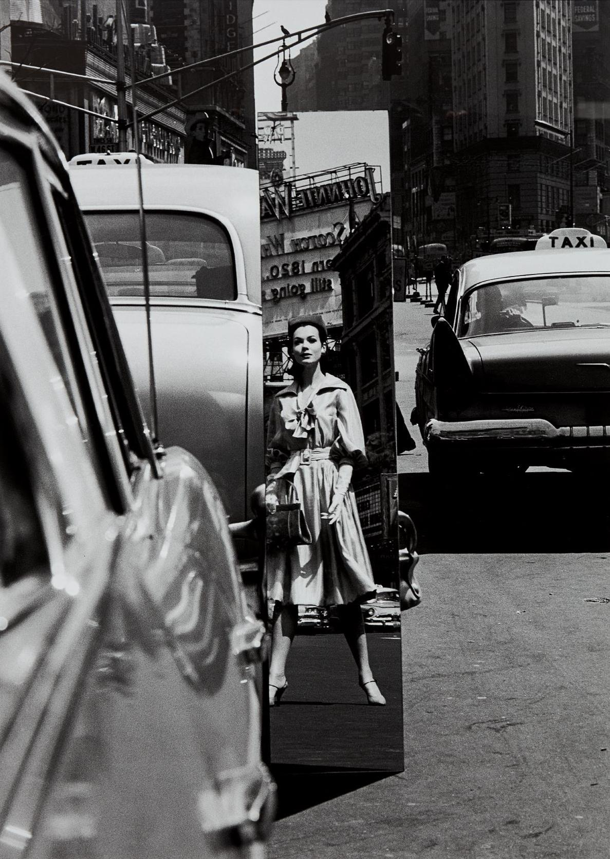 William Klein-Sandra + Mirror, Times Square, New York (Vogue)-1962