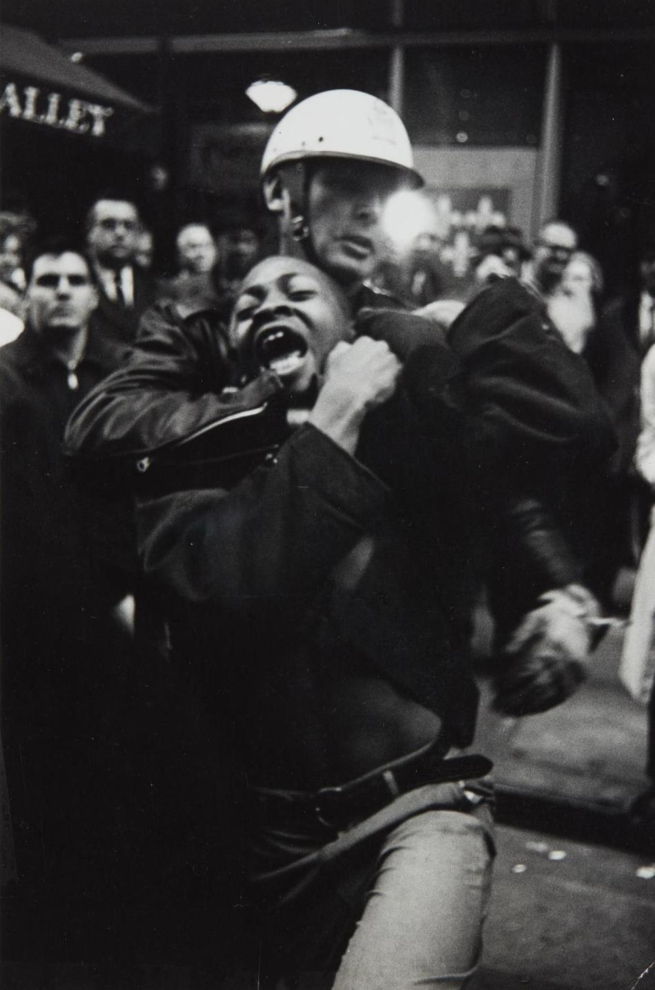 Danny Lyon-The Arrest Of Taylor Washington, Lebs Restaurant, Atlanta-1963