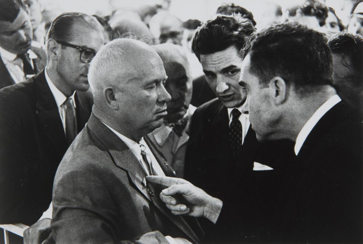 Elliott Erwitt-Nikita Khrushchev & Richard Nixon, Moscow, Ussr-1959
