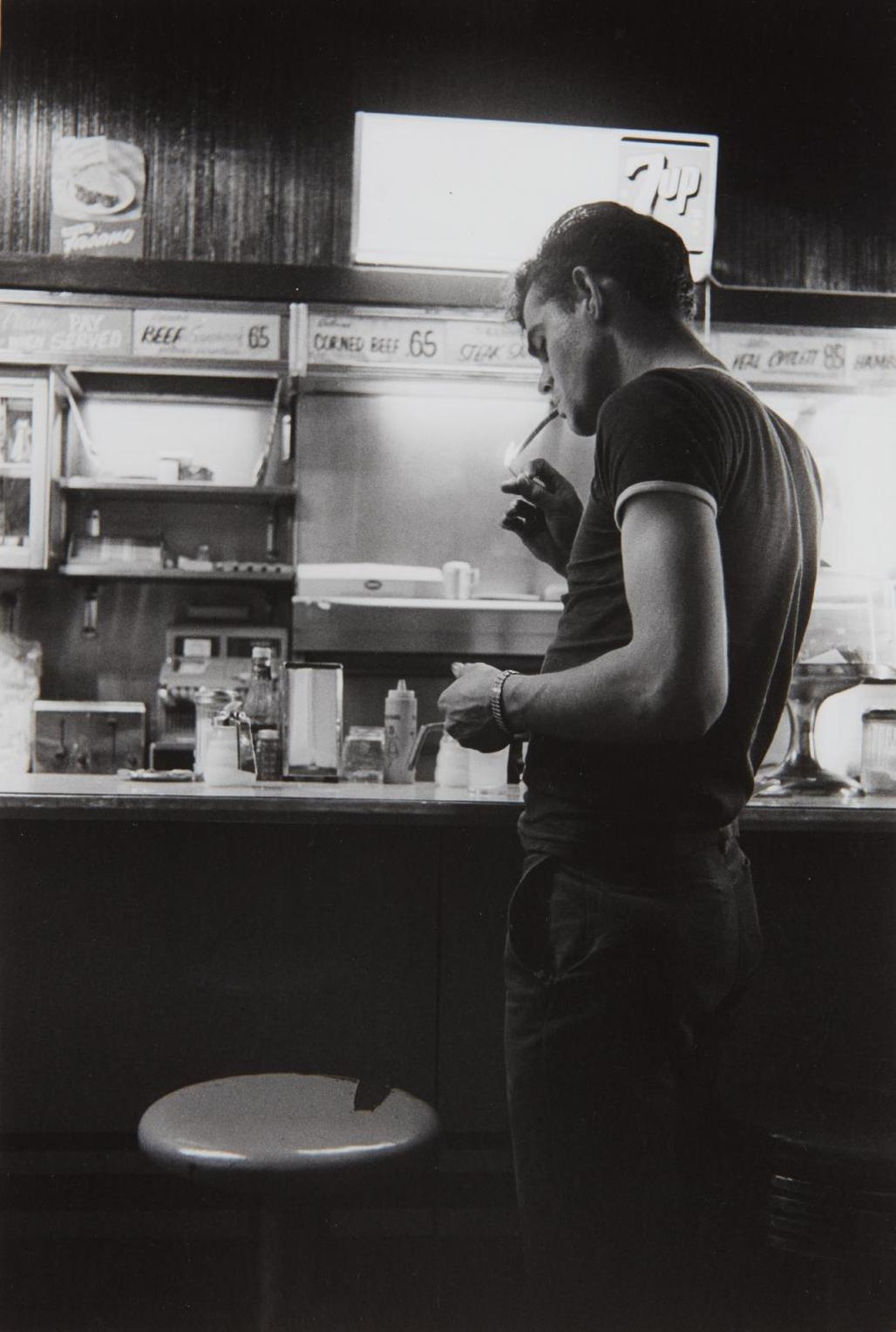 Danny Lyon-The Stoplight Cafe, Cicero-1966