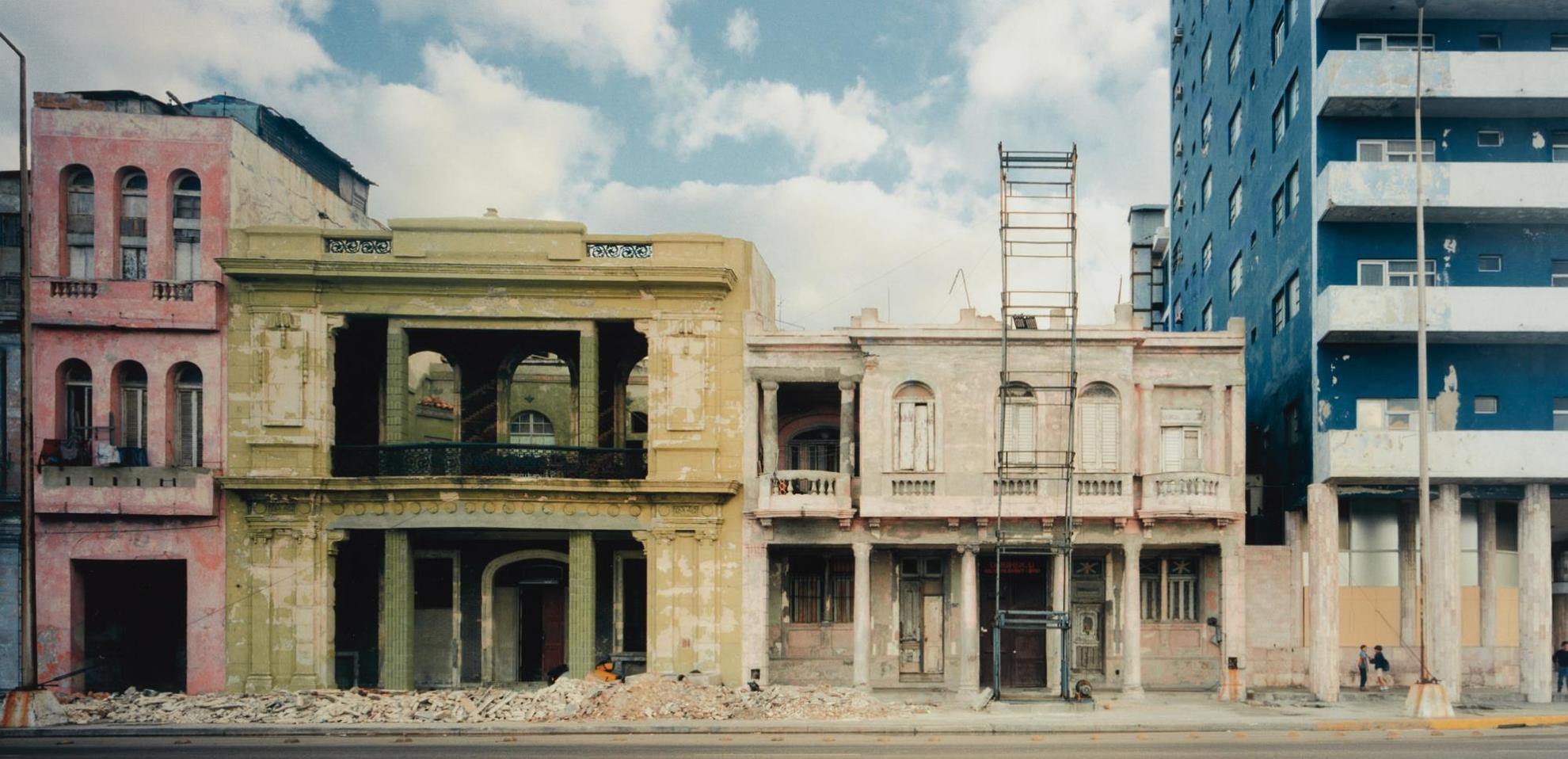 Robert Polidori-Facades, El Malecon, Havana, Cuba, No. 1, December-1997