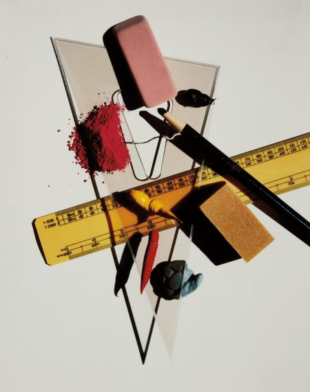 Irving Penn-Still Life With Triangle And Red Eraser, New York-1985