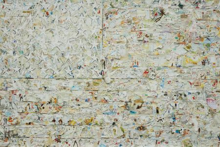 Vik Muniz-White Flag, After Jasper Johns From Pictures Of Magazines 2-2012