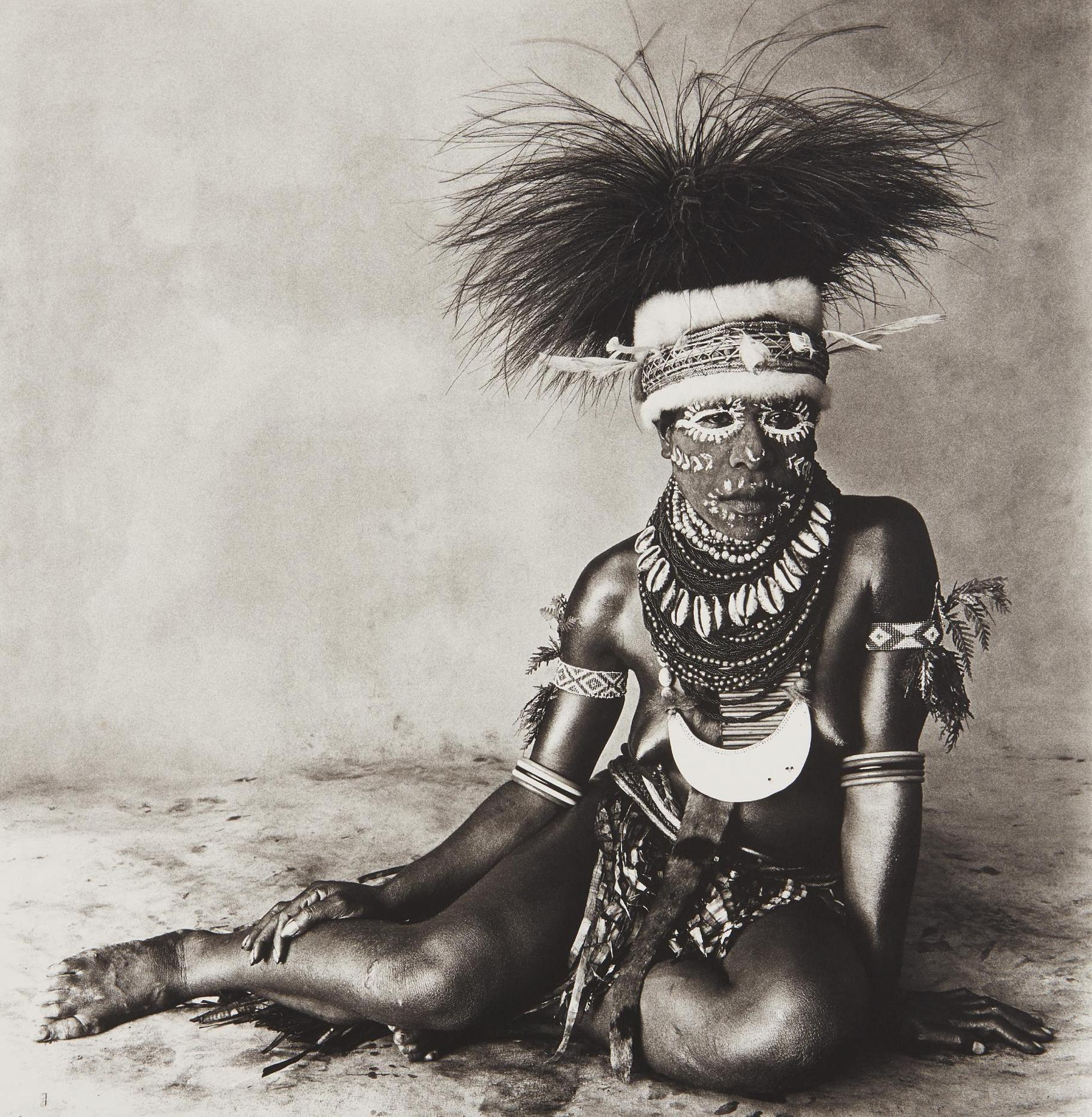 Irving Penn-Sitting Enga New Guinea Woman-1970