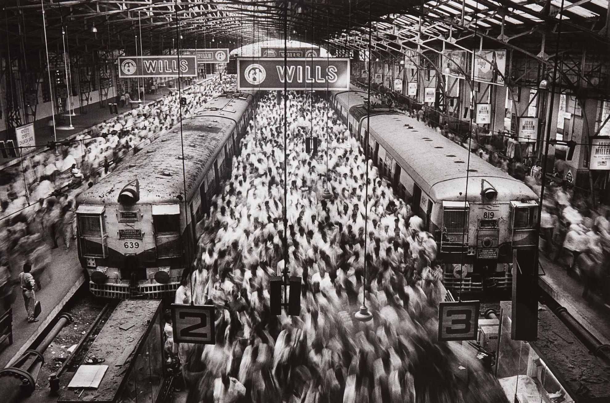 Sebastiao Salgado-Churchgate Station, Western Railroad Line, Bombay, India-1995