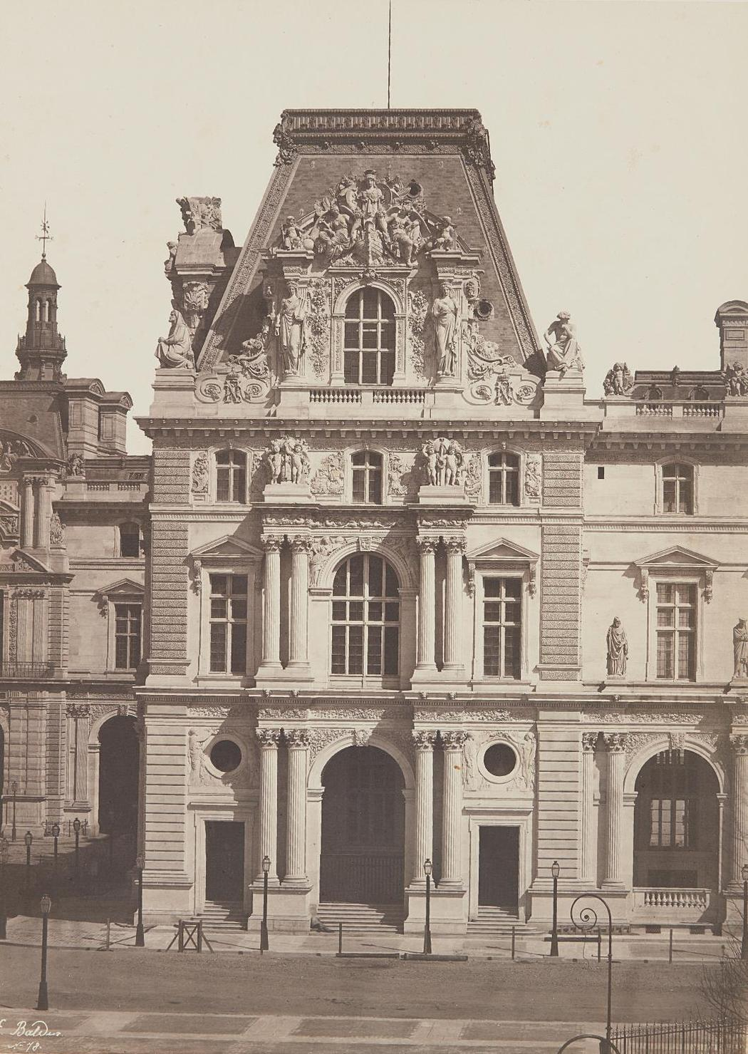 Edouard Baldus-Pavillon Turgot (1Er Etat), Nouveau Louvre, Paris-1857