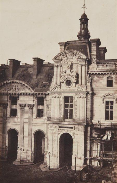 Edouard Baldus-Pavillon De Rohan, Nouveau Louvre, Paris-1857