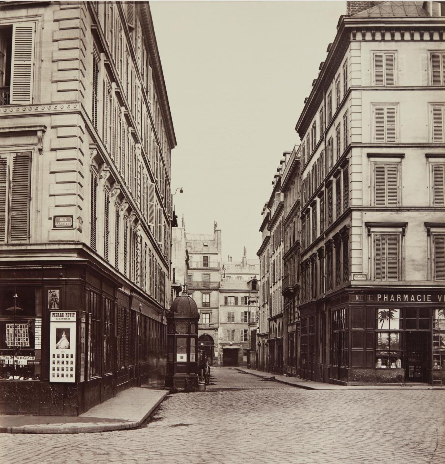 Charles Marville-Rue Ollivier Vers La Rue St-Georges-1868