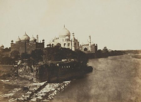 Dr. John Murray - Pavillion And Mosque Attached To The Taj-1857