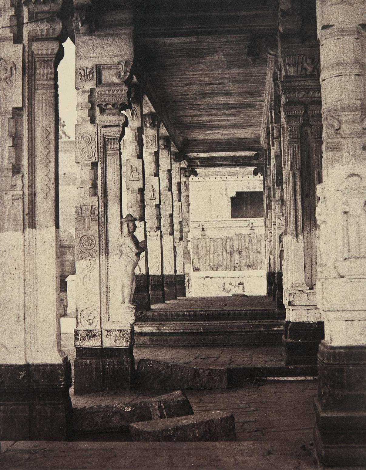 Captain Linnaeus Tripe - Madura. The Great Pagoda, Interior View Of Part Of Muroothappa Sarvacar Munduppum, January-February-1858