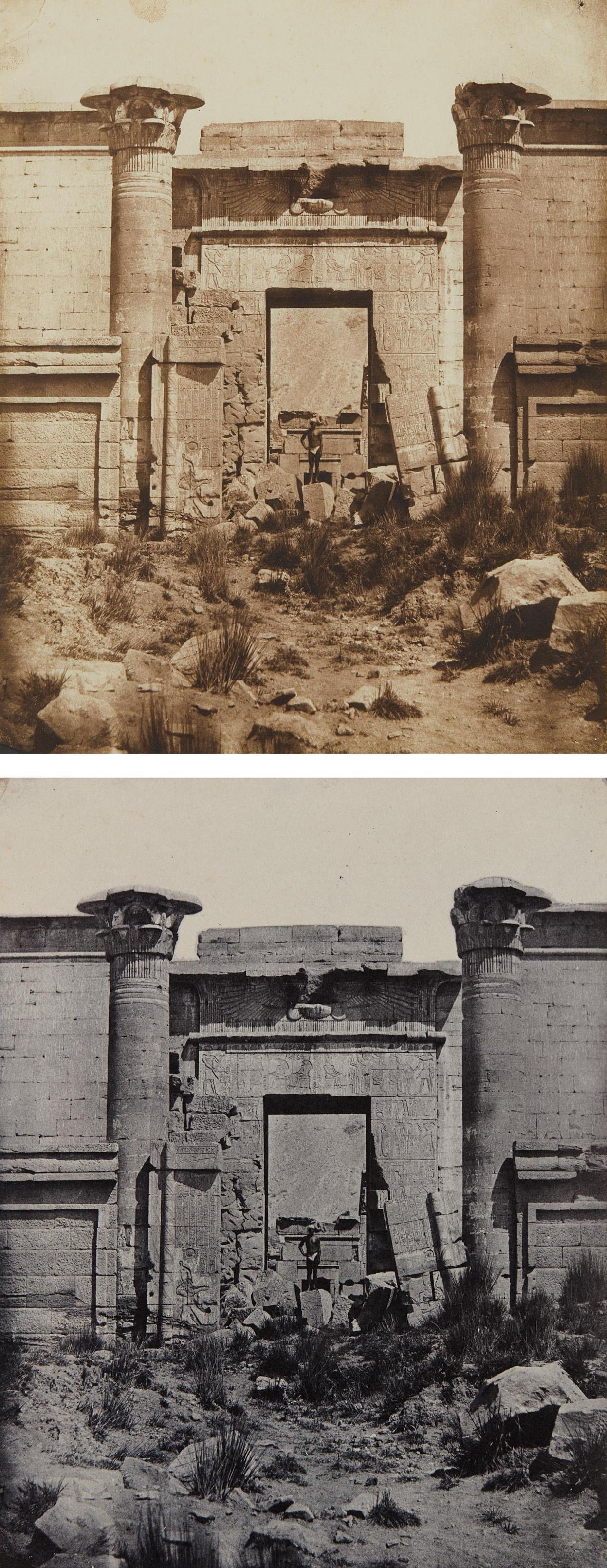 Maxime Du Camp - Selected Images Of Medinet-Habou, Propylees Du Thoutmoseum-1850