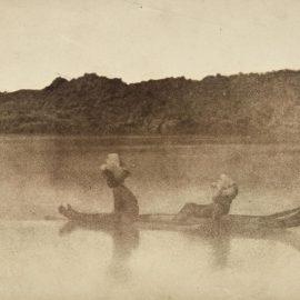 Ernest Benecke-Nubiens Traversant Le Nil-1852