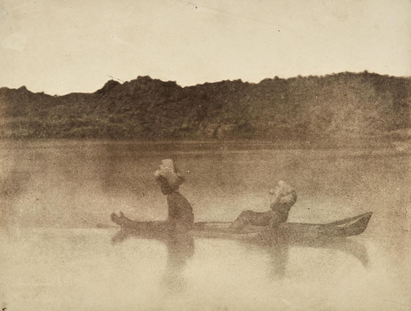 Ernest Benecke - Nubiens Traversant Le Nil-1852