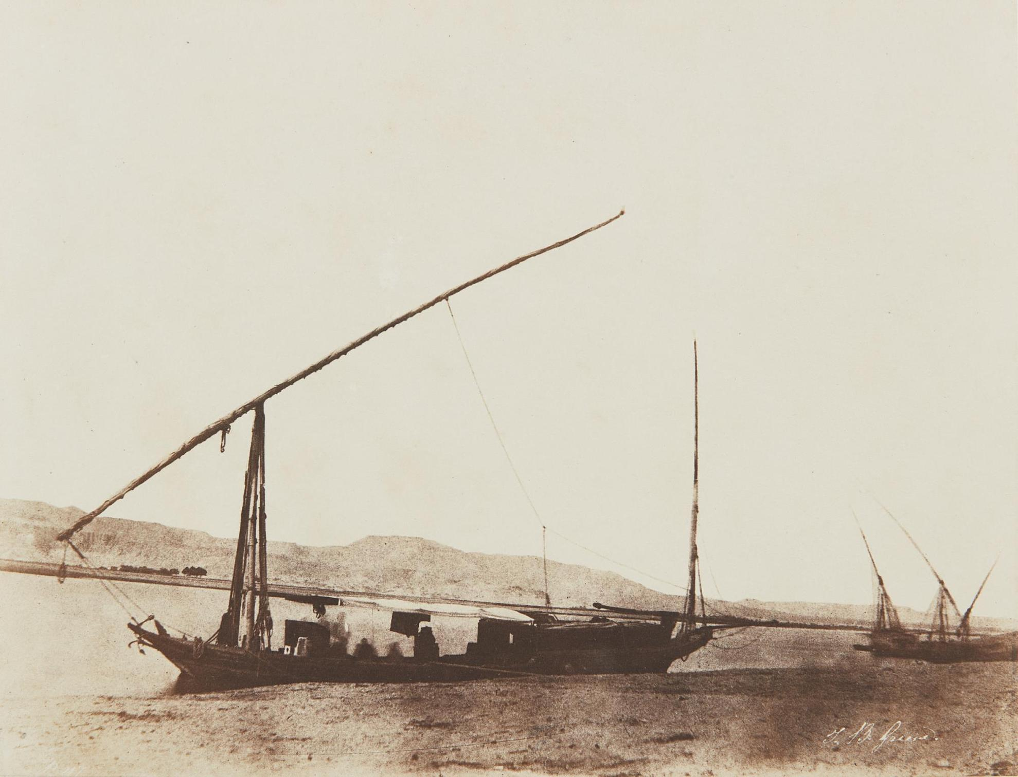 John Beasley Greene-Untitled (Boats On The Nile)-1856