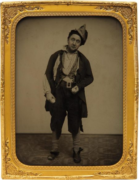 Unknown Photographer - Portrait Of An Actor With Eggs-1860