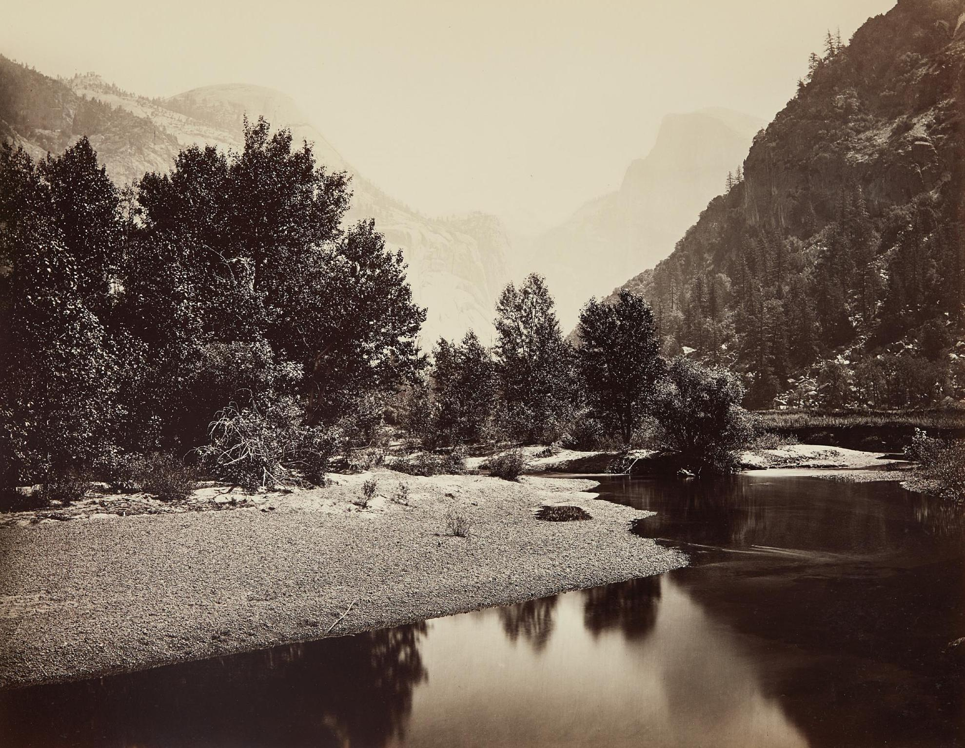 Carleton Watkins-The Domes, Yosemite-1866
