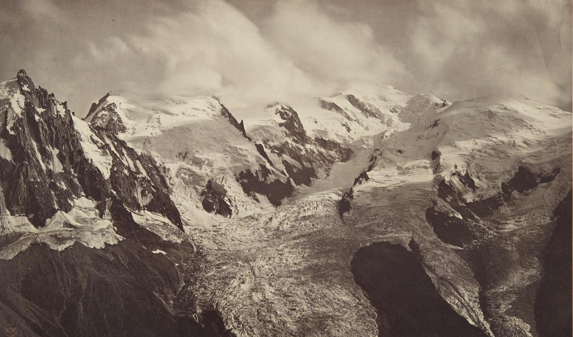 Bisson Freres: Louis-Auguste Bisson And August-Rosalie Bisson - Une Bourrasque Sur Le Mont-Blanc (A Gust Of Wind On Mont Blanc)-1860