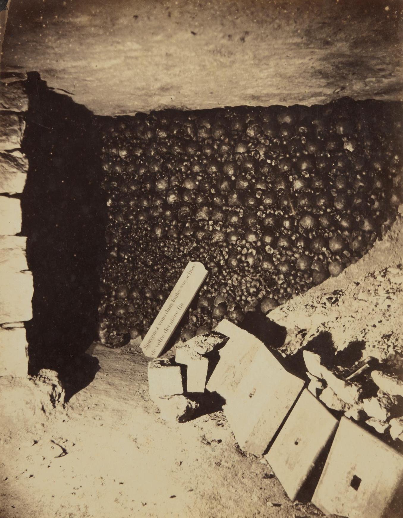 Nadar-Catacombs, Paris, April-1862