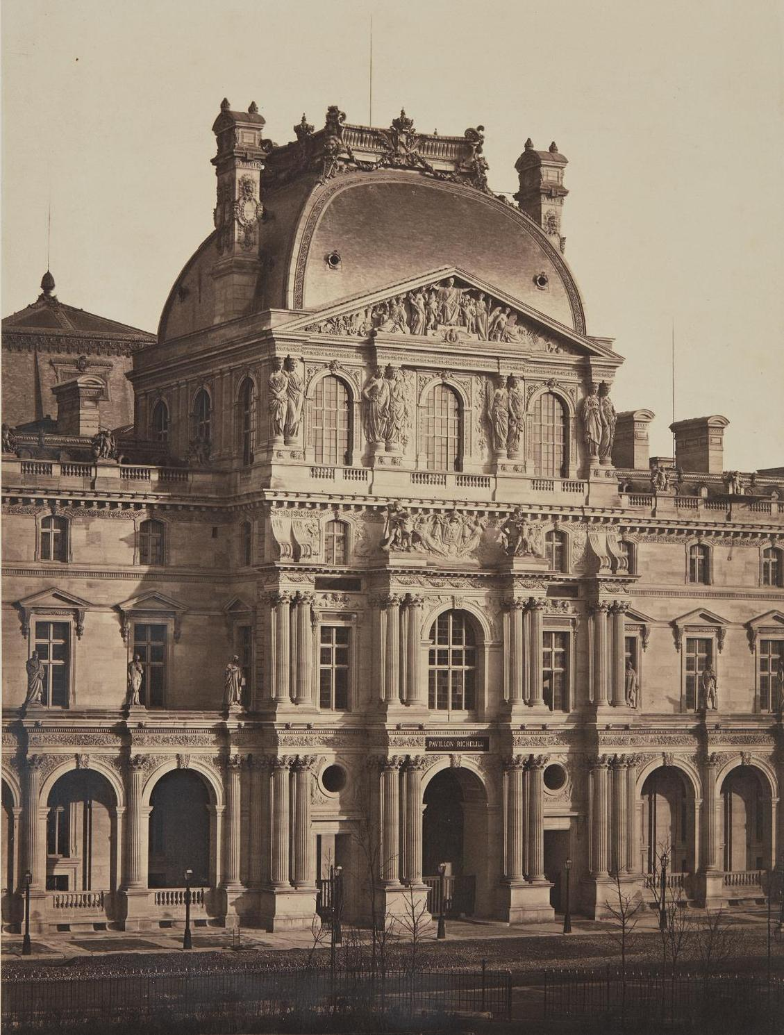 Bisson Freres-Pavillon Richelieu, The Louvre-1858