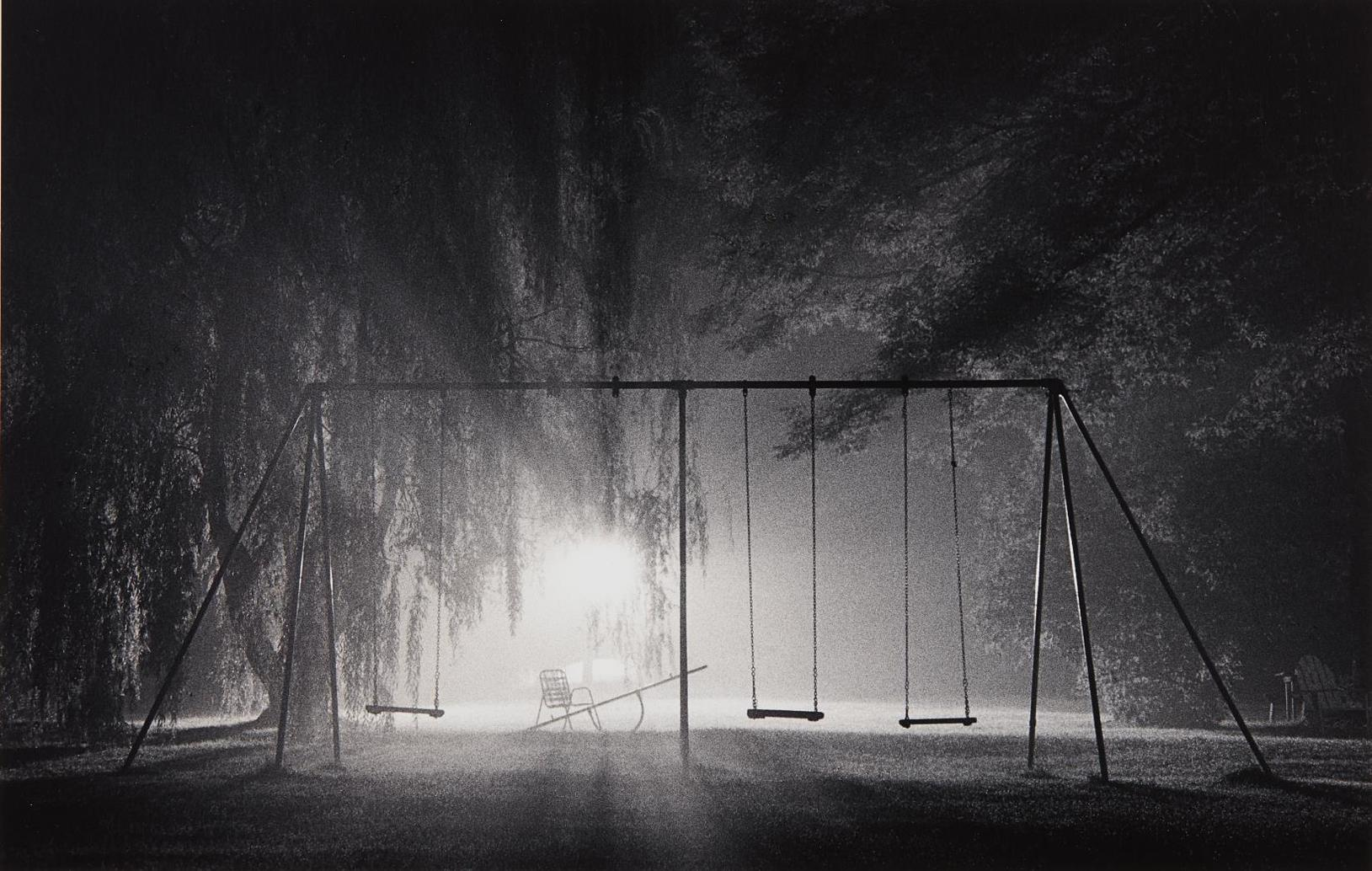 Michael Kenna-Swings, Catskill Mountains, New York-1977