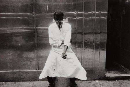Bruce Davidson-Man Outside Luncheonette, New York-1962