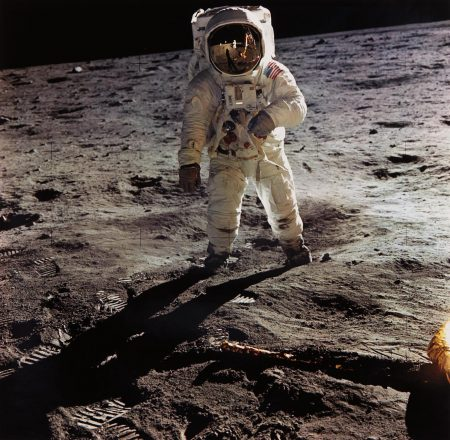 Nasa - Astronaut Edwin E. Aldrin Jr. Walks On The Surface Of The Moon, Apollo 11, July 16-24-1969