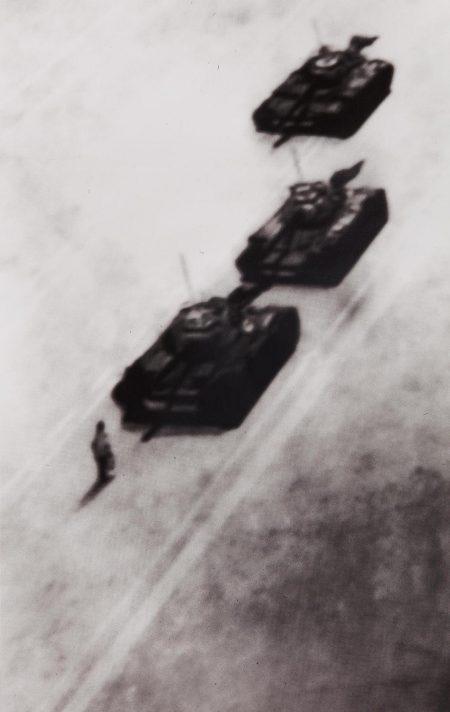 Vik Muniz-Memory Rendering Of Man Stopping Tank In Beijing-1989