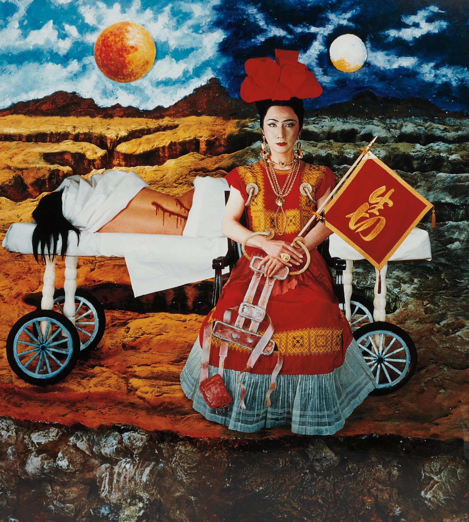 Yasumasa Morimura-An Inner Dialogue With Frida Kahlo (Will To Live)-2001